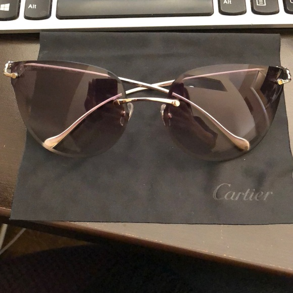 9bab6fa8c46 Cartier Accessories - 100% authentic Panthère de Cartier Sunglasses